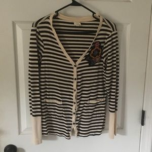 Anthropologie x Tiny embroidered striped cardigan